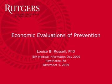Economic Evaluations of Prevention - Institute for Health, Health ...