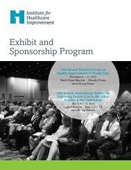 Exhibit and Sponsorship Program - Institute for Healthcare Improvement