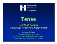 slides - Institute for Healthcare Improvement
