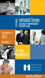 brochure - Institute for Healthcare Improvement