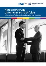 Herausforderung Unternehmensnachfolge - IHK Berlin
