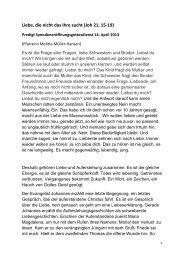 Die Predigt als PDF herunterladen - Evangelisch-Lutherische Kirche ...