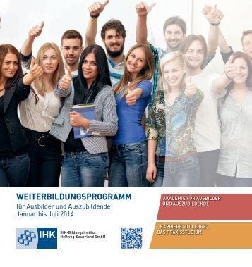 Weiterbildungsprogramm für Ausbilder und Auszubildende