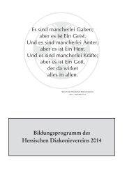 Bildungsprogramm des Hessischen Diakonievereins 2014