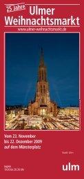 Ulmer Weihnachtsmarkt - Burger Zelte & Catering
