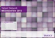 Yahoo! Network MEDIADATEN 2013 - yimg.com