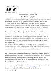 Theaterwettbewerb Lateintag 2014 - SwissEduc.ch