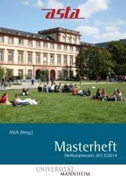 Masterheft - AStA Universität Mannheim