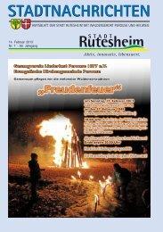 Ausgabe Nr. 7 vom 14. Februar 2013 - Rutesheim