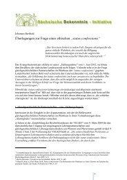 """Überlegungen zur Frage eines ethischen """"status confessionis"""""""