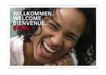 Willkommen. Welcome. Bienvenue. Bonn.