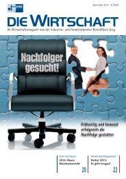 IHK Die Wirtschaft November 2013 - IHK Bonn/Rhein-Sieg
