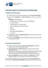Anforderungen an Unternehmensmitteilungen - IHK Bonn/Rhein-Sieg