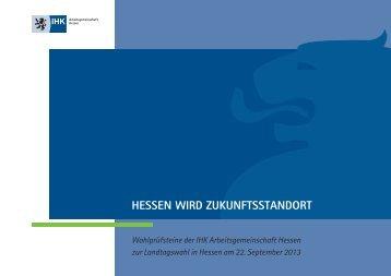 Wahlprüfsteine der IHK Arbeitsgemeinschaft Hessen zur ...