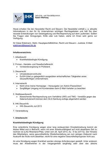 Schriftliche Begründung Bei Befristetem Arbeitsvertrag Ihk Kassel
