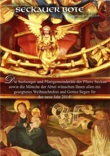 Seckauer Bote Weihnachten 2013 bis März 2014 - Abtei Seckau