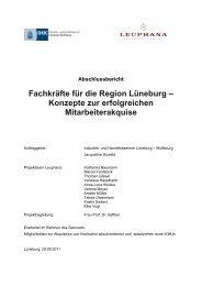 Fachkräfte für die Region Lüneburg – Konzepte zur erfolgreichen ...