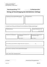 betrieblicher Auftrag - IHK Niederbayern
