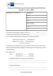 Antrag auf Verlängerung des ... - IHK Niederbayern