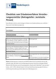 Antragsteller: Juristische Person - IHK Niederbayern