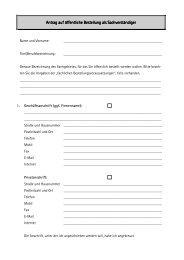 Antrag auf öffentliche Bestellung als ... - IHK Niederbayern