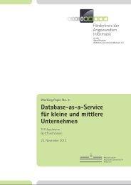 Database-as-a-Service für kleine und mittlere Unternehmen