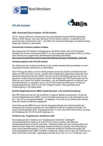 ATLAS Ausfuhr - und Handelskammer Nord Westfalen