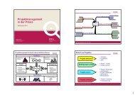 Projektmanagement in der Praxis - und Handelskammer Nord Westfalen
