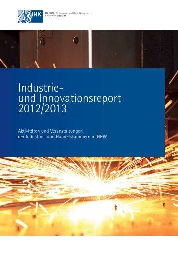 Industrie- und Innovationsreport 2012/2013 - IHK zu Düsseldorf