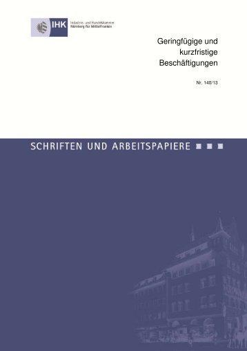 Geringfügige und kurzfristige Beschäftigungen - IHK Nürnberg für ...