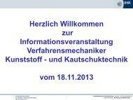 Verfahrensmechaniker Kunststoff / Kautschuk 18.11.2013 Pdf