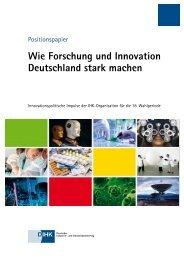 Wie Forschung und Innovation Deutschland stark machen