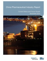 China Pharmaceutical Industry Report - November 2010