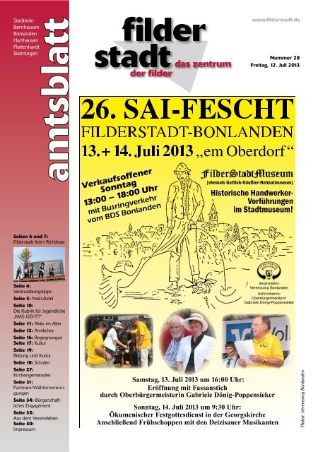 Amtsblatt KW 28 - Stadt Filderstadt