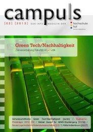 Green Tech/Nachhaltigkeit - Hochschule Hof