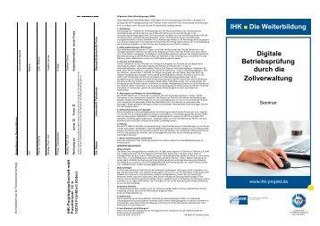 Digitale Betriebsprüfung durch die Zollverwaltung - IHK ...