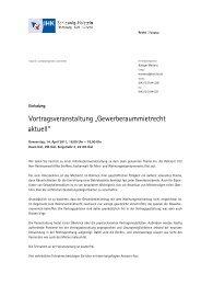 Gewerbemietrecht aktuell Einladung - IHK Schleswig-Holstein