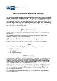 Satzung der Industrie- und Handelskammer ... - IHK Südthüringen