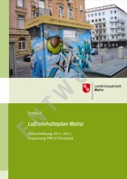 Luftreinhalteplan Mainz im Juni 2012 - IHK Wiesbaden