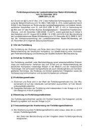 Fortbildungsordnung der Landesärztekammer Baden-Württemberg