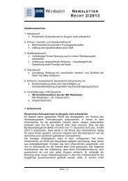Newsletter Recht 2/2013 - IHK Wiesbaden