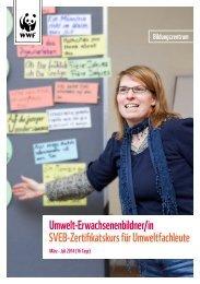 Umwelt-Erwachsenenbildner/in 2013 Bildungszentrum WWF
