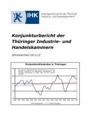 Konjunkturklimaindex in Thüringen - IHK Erfurt