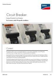 Circuit Breaker - Sizing of Suitable Circuit Breakers for inverters ...