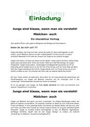 Jungs sind klasse, wenn man sie versteht! - Bistum Hildesheim