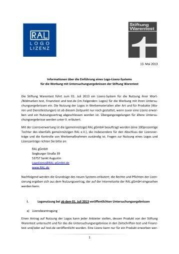 Informationsblatt Stiftung Warentest - IHK Südlicher Oberrhein