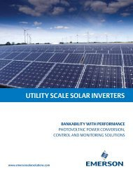 UTILITY SCALE SOLAR INVERTERS - Emerson Industrial Automation
