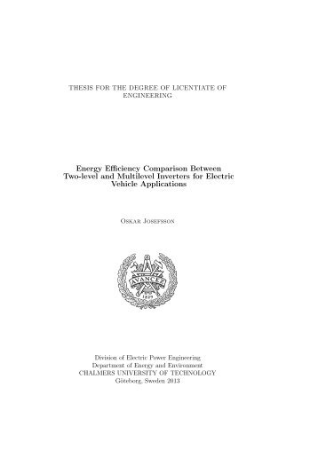 Energy Efficiency Comparison Between Two-level and Multilevel ...