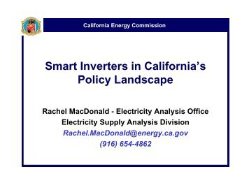 Smart Inverters in California's Policy Landscape - California Public ...