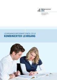 Info Kombinierter-Lehrgang 2014 - AWS Arbeitskreis für Wirtschafts